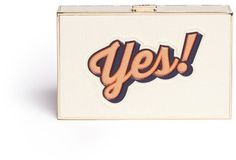 ANYA HINDMARCH Imperial Yes/No' leather box clutch