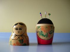 How To Nesting Doll Pin Cushion - because one of my crazy cats likes to pull the pins out of pinscushions. This would be cute and cover them.