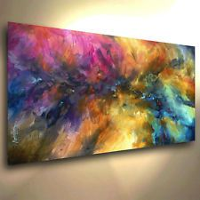 Abstract Painting Giclee Canvas Print Michael Lang Art Contemporary