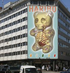 Haribo- This has to be super imposed on the wall but it's awesome...