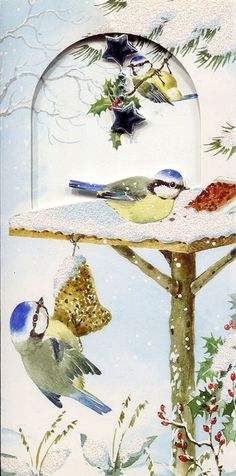 winter bird painting ... from mad_madchen_cards on Flickr
