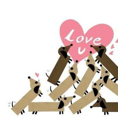 Dachshund – Friendly and Curious Dachshund Funny, Dachshund Art, Daschund, Dachshund Puppies, Cute Puppies, Funny Pets, Weenie Dogs, Doggies, Dog Art