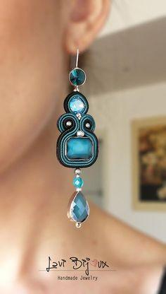 Soutache Earrings Handmade Earrings Hand Embroidered | Etsy