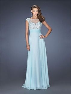 Sweetheart Stones Appliques Open Back Long Chiffon Prom Dress PD11559