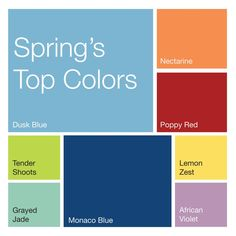 According to the Pantone Color Institute, these are top designers' favorite colors for spring. Which will totally be in your closet? #idreamofspring