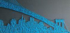 New york skyline string art