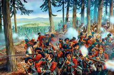British Highlanders at Fort Duquesne, French and Indian War