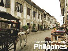 Old houses in Vigan, Ilocos Sur Philippines Tourism, Philippines Culture, Vigan Philippines, Places Around The World, Around The Worlds, Tourism Department, Ilocos, Visayas, Mindanao