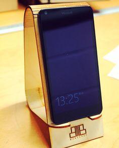 laser cut living hinge phone holder
