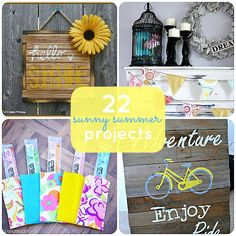 Great Ideas -- 22 Sunny Summer Projects from Tatertots and Jello