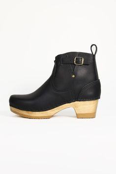 5'' Buckle Boot on Mid Heel in Black  http://no6store.com/no6-clogs/5-buckle-boot-on-mid-heel.html