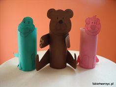 Krokodyl, miś i świnka stworzone z rolki po papierze toaletowym :)  #krokodyl #mis #niedzwiadek #swinka #swinia #rolkapopapierze #handmade #plastykawprzedszkolu #przedszkole #lubietworzyc #DIY #crocodile #bear #pig #toiletroll #artclassinpreschool #preschool #kindergarten #kidscraft #papercraft