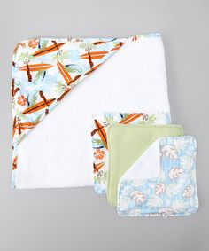 Take a look at this Trend Lab Surf's Up Towel Set by Bathing Baby Collection on #zulily today!