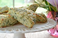 Mixed Herb Scones with Sharp Cheddar - Three Many Cooks