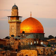 Dome of the Rock, Jerusalem - Palestine Islamic Architecture, Beautiful Architecture, Beautiful Mosques, Beautiful Places, Terra Santa, Dome Of The Rock, Islamic Pictures, Holy Land, Place Of Worship
