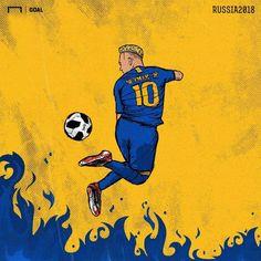 Neymar Psg, Cr7 Juventus, Football Player Drawing, Soccer Drawing, Best Football Players, Football Art, Real Madrid Images, Football Paintings, Neymar Jr Wallpapers