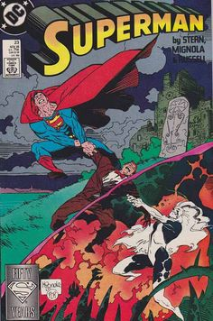 SUPERMAN VOLUME 2 (1987-2006) Issue #23 Mike Mignola Cover Art The origin of the Silver Banshee is revealed.
