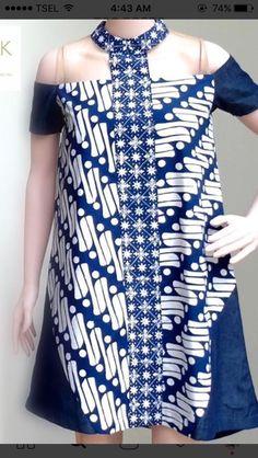 Batik Latest Ankara Dresses, African Fashion Dresses, African Dress, Fashion Outfits, Women's Fashion, Blouse Batik, Batik Dress, Simple Dresses, Short Dresses