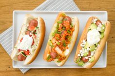 Globally Inspired Hot Dogs, 3 Ways | Tasteseekers Kitchen