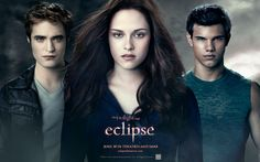 Edward Cullen (Robert Pattinson), Bella Swan (Kristen Stewart) & Jacob Black (Taylor Lautner) - The Twilight Saga: Eclipse