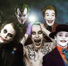 """You may note how the Heath Ledger Joker just has a """"can you believe these guys?"""" sort of expression."""