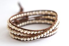 Leather and pearl bracelet...def at the top of my project list