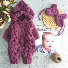 Best 12 Shop beautiful kids designer clothes at Childrensalon. Explore 280 designer brands and discover our selection of designer clothes for girls, boys Baby Cardigan, Baby Pullover, Baby Knitting Patterns, Baby Patterns, Hand Knitting, Baby Girl Crochet, Newborn Crochet, Baby Overalls, Knitted Baby Clothes