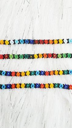 Seed Bead Bracelets Tutorials, Beaded Bracelets Tutorial, Beaded Bracelet Patterns, Beading Tutorials, Friendship Bracelet Patterns, Handmade Bracelets, Handmade Jewelry, Friendship Bracelets, Beaded Necklaces