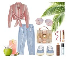 """Beat the Summer"" by rachna-priyanka on Polyvore featuring Mark Cross, Yves Saint Laurent, River Island and Vita Liberata"