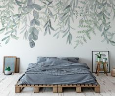 Adorable Vintage Bedroom Wall Decals Design Ideas To Try. Colorful Flower wall decals make a room appear instantly bright and cheery. Large Wall Murals, Wall Decals For Bedroom, Bedroom Murals, Bedroom Decor, Painted Wall Murals, Kids Wall Murals, Removable Wall Murals, Mural Wall Art, Design Bedroom