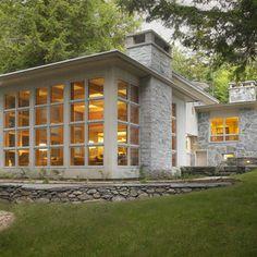 Restored American International Style Home - contemporary - living room - burlington - Cushman Design Group