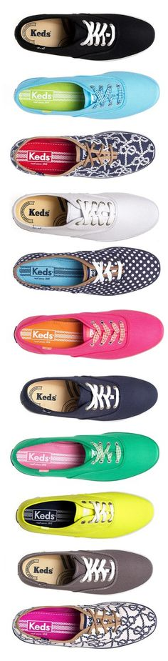 Keds in fun prints and colors! I have the pink ones and I love them!