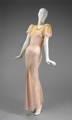 Nightgown 1936, French, Made of silk I don't even wear anything this nice during the day!