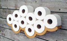 Novelty Wall Art Solid Oak Toilet Roll Holder from Bramble Signs #toilethumour…