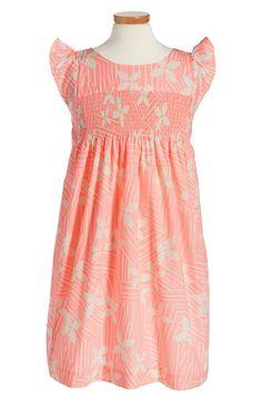Tea Collection 'Vimercati' Smocked Floral Dress (Toddler Girls, Little Girls & Big Girls)
