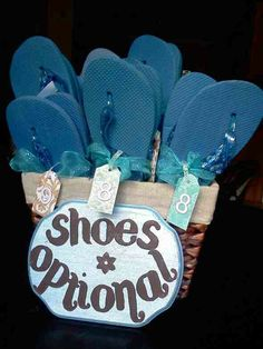 be4c6ca94 My beach wedding Flip Flop basket with