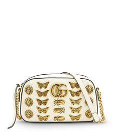 00bad1d4847a white gg marmont buttlerfly bag Butterfly Bags, Gg Marmont, Leather  Crossbody, Crossbody Bag