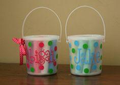tinytulip.com - Monogrammed Chalk Buckets, $12.50 (http://www.tinytulip.com/monogrammed-chalk-buckets)