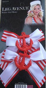 Set of Two Sailor Girl Hair Bows with Anchor Charms Sailor Hair Bows | eBay