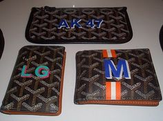 Goyard Wallets with painted initials