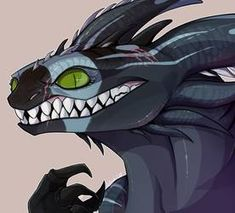 Skymer by Spearmark Mythical Creatures Art, Fantasy Creatures, Night Fury Dragon, Httyd Dragons, Dragon Sketch, Beautiful Dragon, How To Train Dragon, Fire Art, Character Design Animation