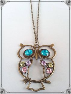 Items similar to Owl pendant on Etsy Owl Pendant, Pendant Necklace, Take That, Charmed, Trending Outfits, Friends, Unique Jewelry, Bracelets, Handmade Gifts