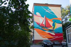 """""""Element"""" by Evgeniy Dikson for the biennial of street art """"Artmossfera"""" in Moscow"""