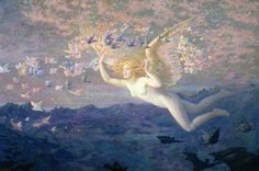 On the Wings of the Morning, Edward Robert Hughes