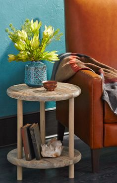 Turn a few dowels and two pine rounds into custom furniture.