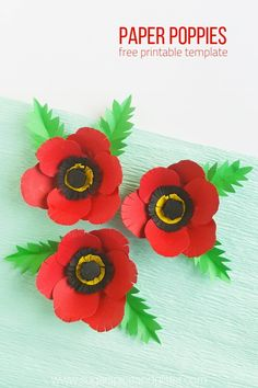 A simple paper flower craft for Remembrance Day, this poppy craft is perfect for older kids or grown-ups Making poppies with kids is a great way to facilitate conversations about the reasons for Remembrance Day, Veteran's Day or Memorial Day Remembrance Day Quotes, Remembrance Day Activities, Remembrance Day Poppy, Easy Drawing Tutorial, Paper Plate Poppy Craft, Paper Plate Crafts, Happy Hooligans, Simple Paper Flower, Paper Flowers