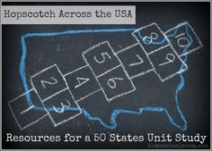 Resources for a 50 States Unit Study: w/ booklist for each state!