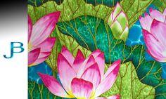 JEAN-BAPTISTE : World's Best Silk Batik Artist : Lotus