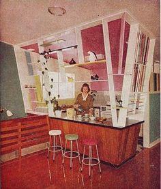 Mid Century Kitchen (1950's kitchen)  @sefefuentes