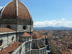 Climbed the bell tower of the famous Duomo in Florence, Italy this past summer. Such a beautiful city, altogether. I want to go back!!